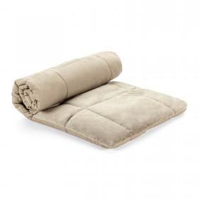 Dekorativna odeja Soft Touch 4 v 1 - peščeno rjava