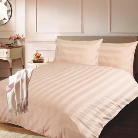 Bombažno-satenasta posteljnina Isabella - bež