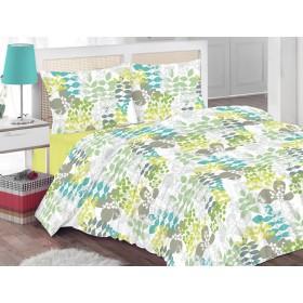 Bombažna posteljnina Timea - zelena