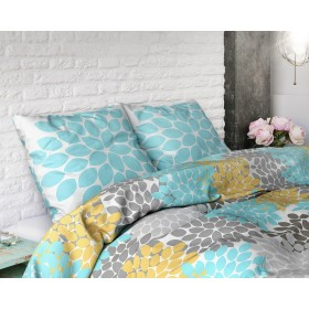 Bombažna posteljnina Claire - turkizna