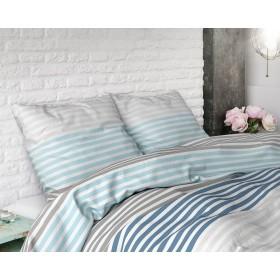 Bombažna posteljnina Alex - modra