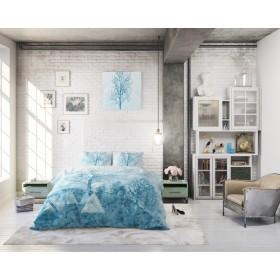 Bombažna posteljnina Oceania - modra