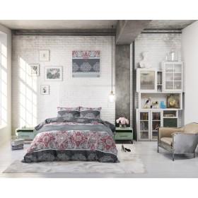 Bombažna posteljnina Naomi - rdeča