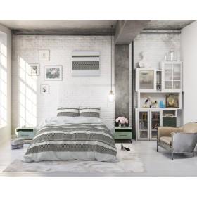 Bombažno-satenasta posteljnina Sydney - bež