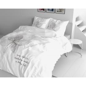 Bombažna posteljnina Orchid - bela