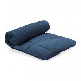 Dekorativna odeja Soft Touch 4 v 1 - temno modra