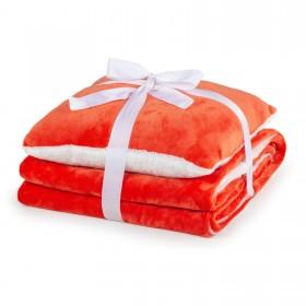 Dekorativna odeja in vzglavnik Vitapur Beatrice - oranžna