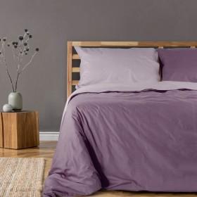 Bombažna obojestranska posteljnina Svilanit Dusky Orchid - vijolična