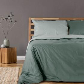 Bombažna obojestranska posteljnina Svilanit Trooper - zelena