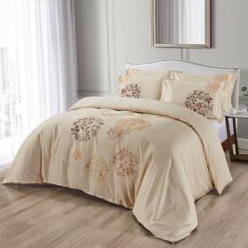 Bombažno-satenasta vezena premium posteljnina Svilanit Iza
