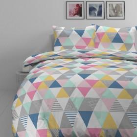 Bombažno-satenasta posteljnina Svilanit Triangle Dreams