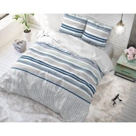 Bombažna posteljnina Amber - modra
