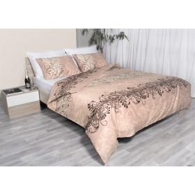 Bombažno satenasta posteljnina Svilanit Jeanette - rjava