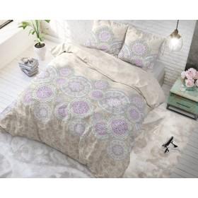 Bombažna posteljnina Mandala - marelična