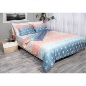 Bombažno satenasta posteljnina Svilanit Mirage - koralna