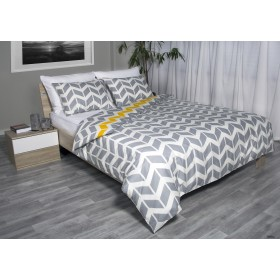 Bombažna posteljnina Sisy - siva