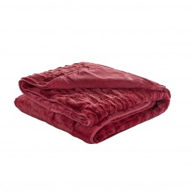 Dekorativna odeja Sahara Premium - rdeča